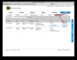 Processing registrations