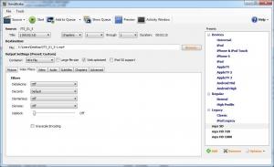 Handbrake: Video filters tab
