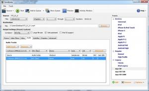 Handbrake: Audio tab